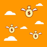 Money flying Stock Photos