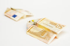 Money flying, paper airplanes Stock Photo