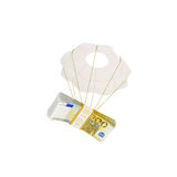 Money flying on a parachute Royalty Free Stock Photos