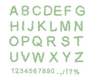 Money font. Letter from dollar. Alphabet of money. Royalty Free Stock Photography