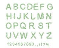 Money font. Letter from dollar. Alphabet of money. The font of dollars. Vector illustration vector illustration