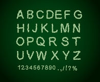 Money font. Letter from dollar. Alphabet of money. Royalty Free Stock Images