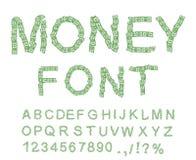 Money font. Letter from dollar. Alphabet of money. Stock Photo
