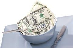 Money food Stock Photography