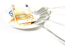 Money for Food Stock Photo