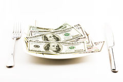 Money for food Stock Images