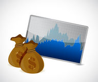 Money forex exchange concept illustration design. Over a white background Royalty Free Stock Photo