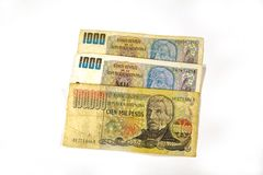 Money form Argentina royalty free stock photo