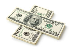Money in the form of a cross Royalty Free Stock Photos