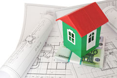 Money foundation house project Stock Images