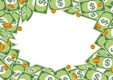 Money frame with pile dollar. Money, vector illustration on blank background Royalty Free Stock Image