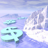Money Freeze Royalty Free Stock Image
