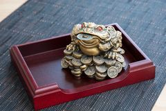 Money frog royalty free stock photography