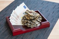 Money frog and euro Stock Photo