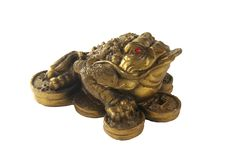 Money Frog - Feng Shui Item for Business Wealth. Isolated royalty free stock images