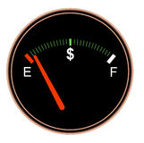 Money Fuel Gauge Royalty Free Stock Images