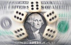 Money gamble stock photography