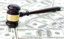 Money gavel Royalty Free Stock Images