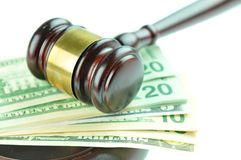 Money and gavel Royalty Free Stock Photo