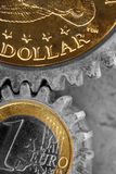 Money Gears Royalty Free Stock Images