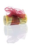 Money gift of 200 euro. Isolated on a white background Royalty Free Stock Images