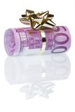 Money gift of 500 euro. Isolated on a white background Royalty Free Stock Image
