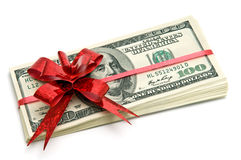 Money for gift Stock Photography
