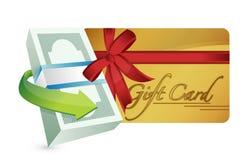Money gift card illustration design Stock Photo