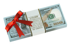 Money gift concept Royalty Free Stock Photos