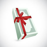 Money gift ribbon illustration design Royalty Free Stock Images