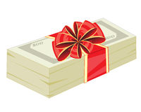 Money in gift to packing Royalty Free Stock Photos