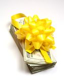 Money gift vertical Stock Images