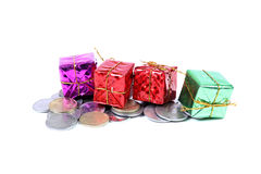 Money and gifts Royalty Free Stock Images