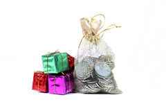 Money and gifts Stock Images