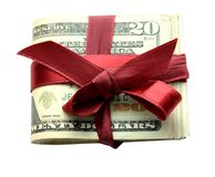 Money gifts Stock Images