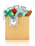 Money and gifts Royalty Free Stock Photos