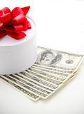 Money and girft box Royalty Free Stock Photography