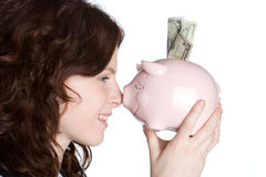 Money Girl Stock Photography