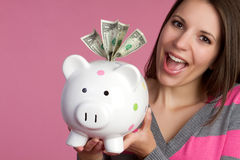 Money Girl Royalty Free Stock Photos