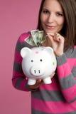 Money Girl stock photos
