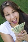 Money Girl Royalty Free Stock Images