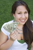 Money Girl Royalty Free Stock Photo