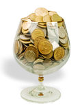 Money in the glass. Stock Images