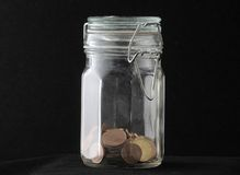 Money in the glass Royalty Free Stock Images