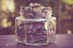 Money in the glass Royalty Free Stock Photo