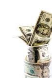 Money in glass jar Stock Photo