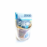 Money in glass Royalty Free Stock Photography