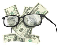 Money with glasses Royalty Free Stock Image