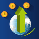 Money and global economy Royalty Free Stock Photo