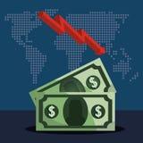 Money and global economy Royalty Free Stock Photos
